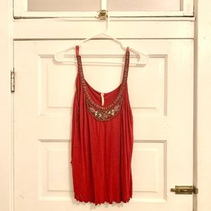 Free People Beaded Knit tank